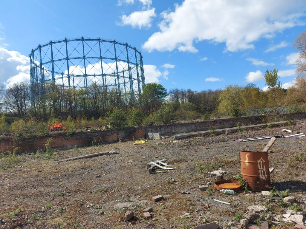 Granton site showing a large area with the gasworks in the background