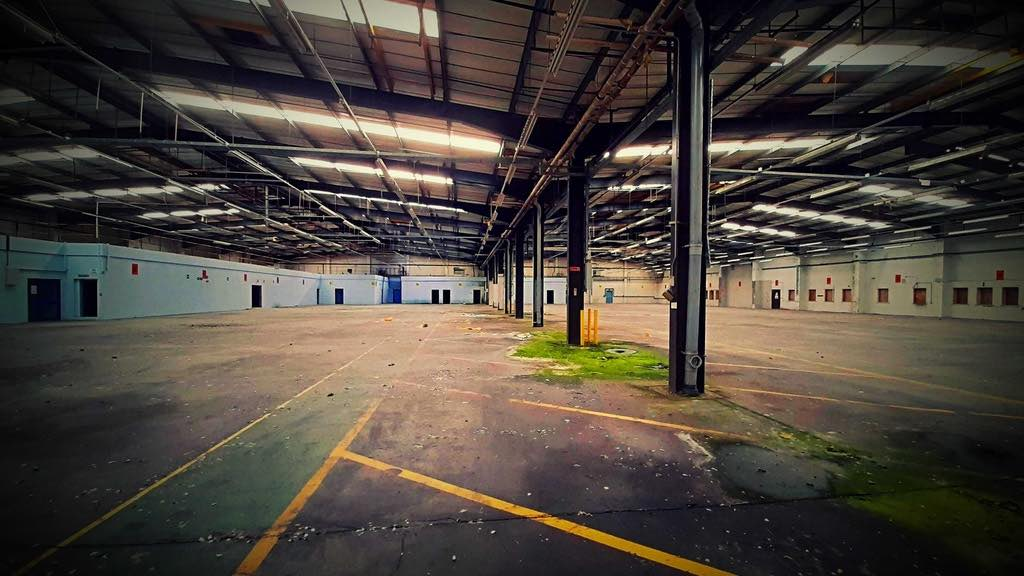 The inside of the warehouse